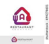 restaurant initial letter a... | Shutterstock .eps vector #694278601