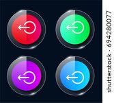 log out four color glass button ...