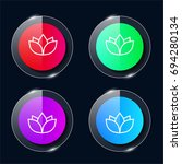 yoga four color glass button ui ...