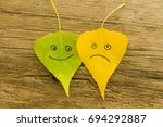 Green And  Yellow  Leaves With...