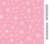 white snowflakes seamless... | Shutterstock .eps vector #694293205