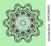 snowflake design | Shutterstock .eps vector #694298491