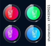 frappe four color glass button...