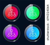 diagram four color glass button ...
