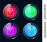 bag four color glass button ui...