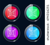 crate four color glass button...