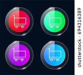 cart four color glass button ui ...