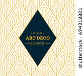 art deco monochrome seamless... | Shutterstock .eps vector #694318801