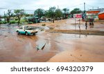 tropical cyclone dineo... | Shutterstock . vector #694320379