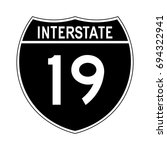 interstate highway 19 road sign.... | Shutterstock .eps vector #694322941