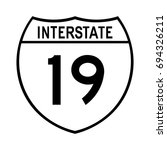 interstate highway 19 road sign.... | Shutterstock .eps vector #694326211