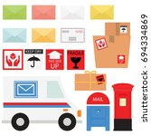 mail service   snail mail and... | Shutterstock .eps vector #694334869