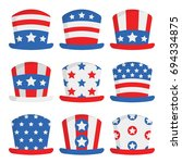 independence day hats fourth of ... | Shutterstock .eps vector #694334875