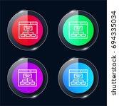 sitemap four color glass button ...