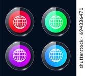 world grid four color glass...
