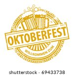 grunge rubber stamp with beer... | Shutterstock .eps vector #69433738