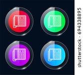 phone four color glass button...
