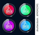 open four color glass button ui ...