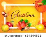 autumn. | Shutterstock .eps vector #694344511