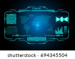 futuristic user interface hud... | Shutterstock .eps vector #694345504