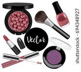 vector female cosmetics...   Shutterstock .eps vector #694348927