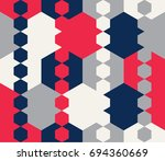 seamless geometric pattern.... | Shutterstock .eps vector #694360669