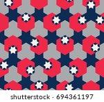 seamless geometric pattern.... | Shutterstock .eps vector #694361197