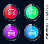 car four color glass button ui...