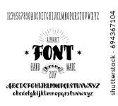 vector alphabet. calligraphic... | Shutterstock .eps vector #694367104