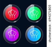 ballons four color glass button ...