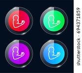 arm four color glass button ui...