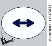 arrow indicates the direction ... | Shutterstock .eps vector #694372555