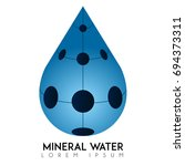 isolated mineral water logo ... | Shutterstock .eps vector #694373311