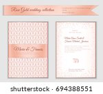 luxury wedding invitation... | Shutterstock .eps vector #694388551
