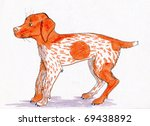 the girl has drawn the dog... | Shutterstock . vector #69438892