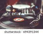 turn table records player in... | Shutterstock . vector #694391344