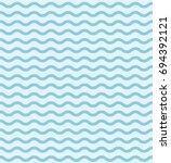 wave pattern template. blue... | Shutterstock .eps vector #694392121
