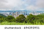view from victoria peak toward... | Shutterstock . vector #694393951