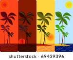 different time of days for a... | Shutterstock .eps vector #69439396