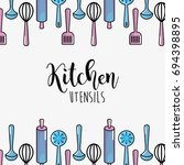 kitchen utensils culinary... | Shutterstock .eps vector #694398895