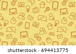 web icons background. vector... | Shutterstock .eps vector #694413775