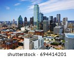 aerial view of the financial... | Shutterstock . vector #694414201