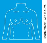 torso marked with lines for... | Shutterstock .eps vector #694416295