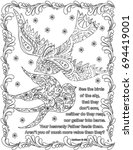 bible verses coloring book page   Shutterstock .eps vector #694419001