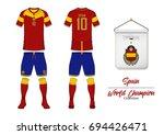 soccer jersey or football kit... | Shutterstock .eps vector #694426471