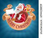 santa claus card | Shutterstock .eps vector #694428859