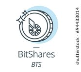 bitshares cryptocurrency coin... | Shutterstock .eps vector #694433014