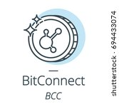 bitconnect cryptocurrency coin... | Shutterstock .eps vector #694433074