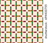 seamless pattern with color... | Shutterstock .eps vector #694433755