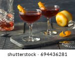 homemade red boulevardier... | Shutterstock . vector #694436281